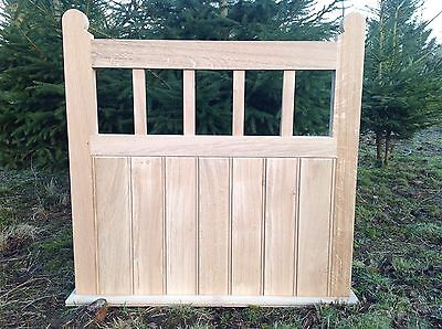 Handcrafted Solid European Oak Garden Gate 975mm X 975mm With Moulded Stiles