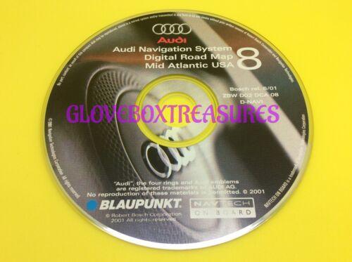 AUDI NAVIGATION DIGITAL DVD MAP CD GPS NAV DISC CD8 MID ATLANTIC ZBW D02 DCA 08