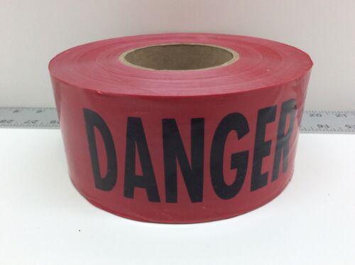 """Empire Danger Barricade Tape 77-1004 3"""" x 1000ft Red Black"""