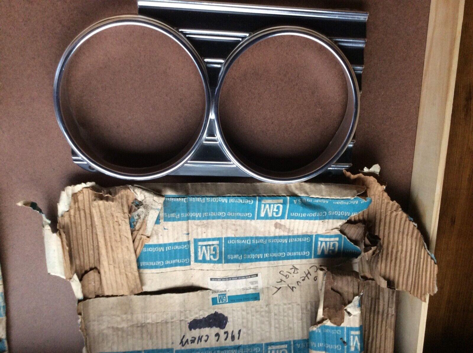 1966 chevy full size nos headlight bezels pr.
