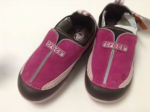 Crocs-Girls-Dawson-Slip-On-Berry-Bubblegum-C6-C7-C8-C9-C10-C11-C12-C13-J1-J2-J3