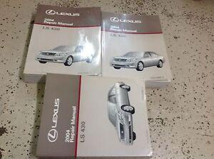 Ls 430 repair manual ebay 2004 lexus ls430 ls 430 service shop repair manual set factory brand new oem 04 sciox Gallery