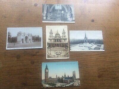 Kensington Arch (Joblot Collection 5 Postcards London Kensington Marble Arch St Paul's Big Ben )