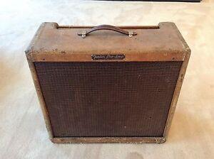 1956-Vintage-Fender-Tweed-Pro-5E5-A-Amp-Amplifer-Gabinete-Altavoz-Jensen-Original