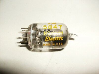 JW 5847 - WESTERN ELECTRIC RADIO TUBE CURVED D GETTER  - TV-7 D/U TESTED
