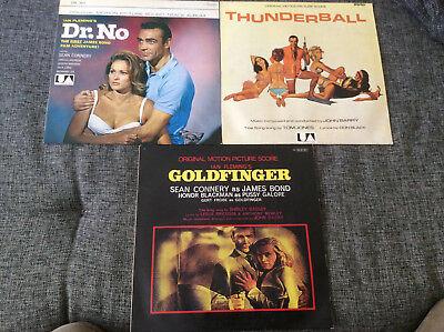 James Bond 007 John Barry [3 LP Vinyl] Goldfinger + Thunderball + Dr.No