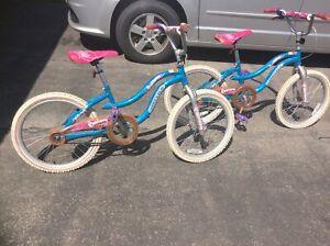 "Got Princesses?  1 or 2 girls 20"" ""Dream Weaver"" bicycles"