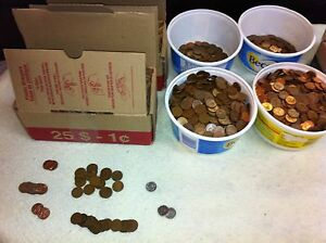 2500 Pennies for sale -Coins