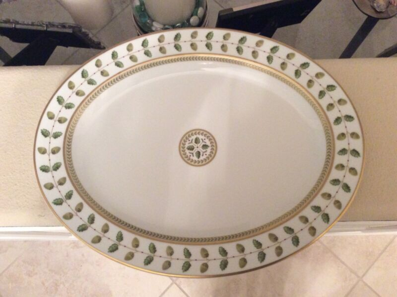 """Bernardaud Constance pre owned 15""""Oval serving platter. Excellent condition."""