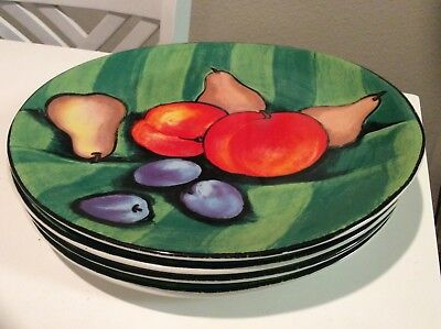 Set of 4 Misono Tuscany Dinner Plates Oval Plates