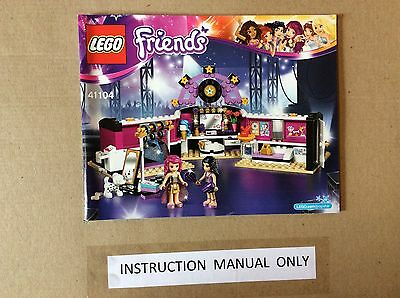 New Lego Instruction Manual ONLY for Friends Pop Star Rehearsal Stage Set - Pop Stars For Kids