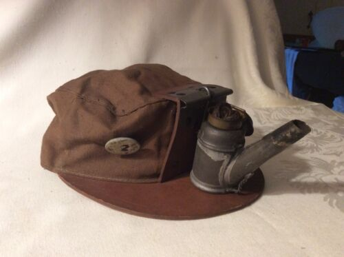 Antique Miners Hat with Oil Lamp Free 📦 shipping