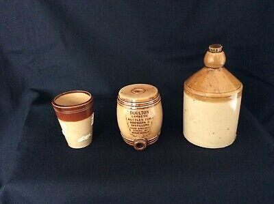 Royal Doulton Lambeth Miniatures - Barrel, Flagon and Beaker (Salesman Samples)
