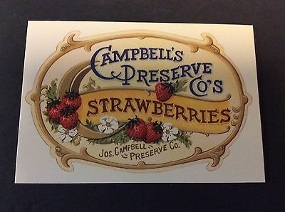 Campbells Preserve Company Strawberries Ad Postcard Campbells Soup 1996