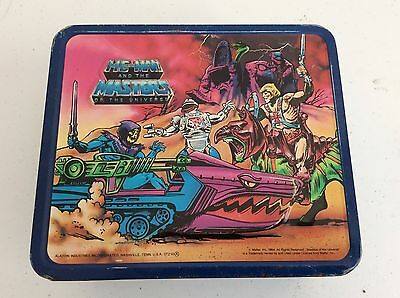 VINTAGE 1984 HE-MAN AND THE MASTERS OF THE UNIVERSE LUNCH BOX -nice!