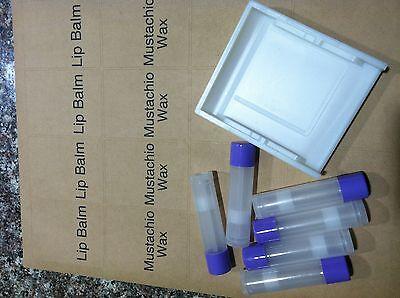 Lip Balm Labels - Lip balm tube label tray