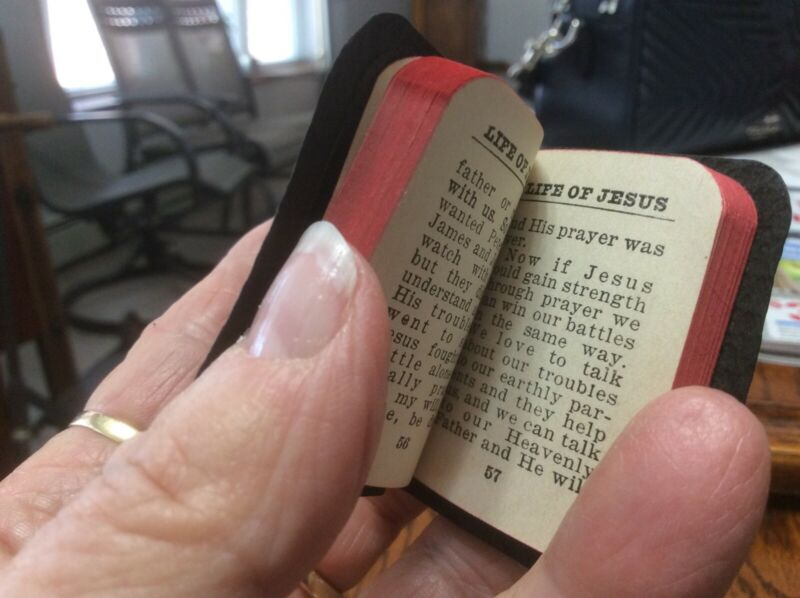 Childrens minature Bible & Prayer book. Dollhouse size
