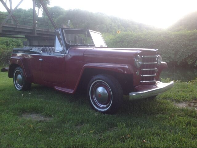Willys JEEPSTER 6cy Willys Jeepster RARE ,Overdrive, HURRICANE 6 cyl, Sharp Looking!!! with Video!