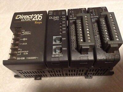 Koyo D2-03b Plc Dl240 Cpu D2-16nd3-2 Ds-12ta