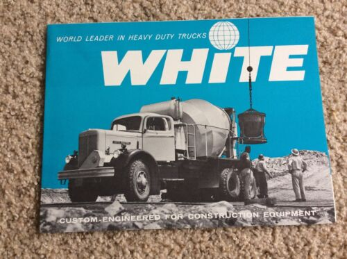 1959 White heavy-duty trucks, original sales information.