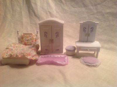 Calico Critters/Sylvanian Families Lavender Bedroom Furniture Set