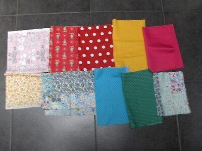 Lot de 10 coupons Patchwork neuf  détails voir  description