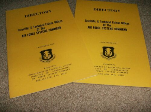 AIR FORCE SYSTEMS COMMAND DIRECTORY SCIENTIFIC & TECHNICAL LIAISON OFFICES 1967
