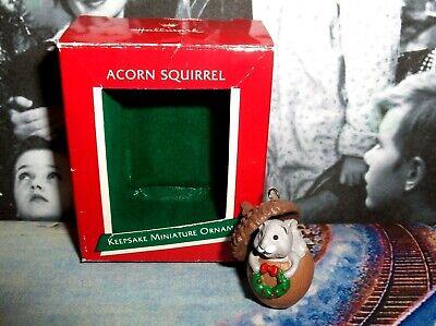 Acorn Squirrel`1989`Miniature-Little Squirrel Living In Acorn,Hallmark Ornament