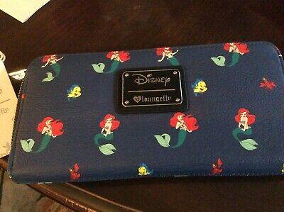 Disney's ARIEL the Little Mermaid Loungefly Zipper Wallet~New w/ Tags