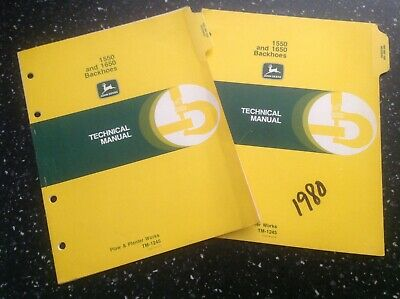 John Deere 1550 And 1650 Backhoes Technical Manual Tm-1245