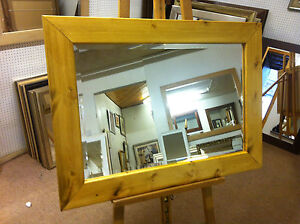 NEW-LARGE-CHUNKY-LIGHT-OAK-STAINED-SOLID-PINE-OVERMANTLE-WALL-MIRRORS