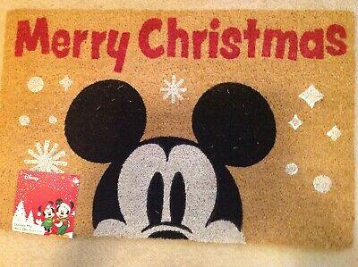 New Disney Mickey Mouse Christmas Door Mat Coir