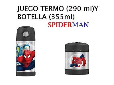 JUEGO BOTELLA Y TERMO ALUMINIO SPIDERMAN 041205617419 041205617402