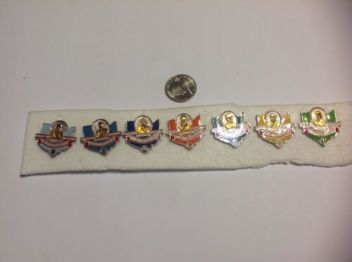 Lions Club Pins: 7 Ohio MD Miniatures bh