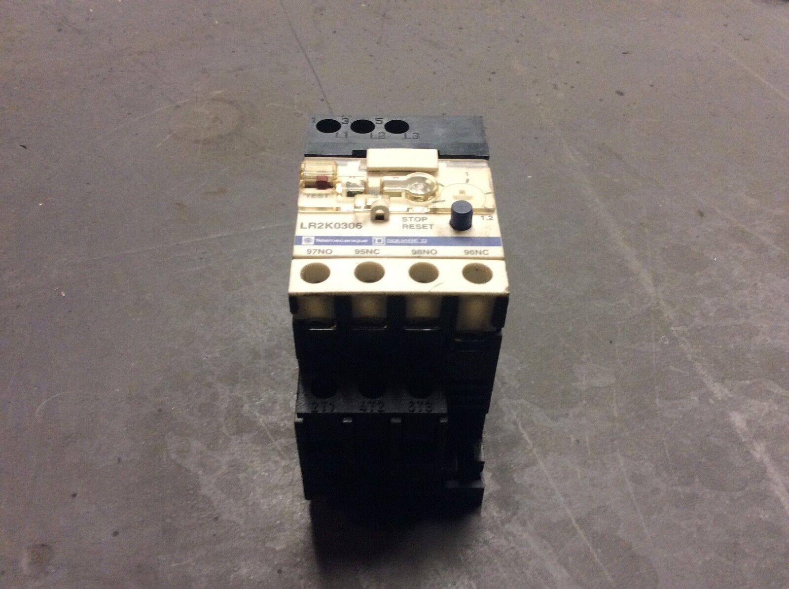 Telemecanique Overload Relay, # LR2K0306, 0.8 - 1.2 A Range, Used, Warranty