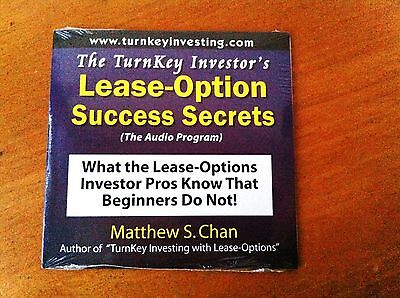 The Turnkey Investors Lease-Option Success Secrets - BRAND NEW REAL ESTATE CD!