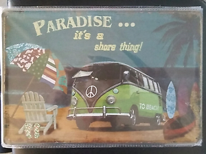 VW paradise tin sign 30cm x 20cm Burleigh Waters Gold Coast South Preview