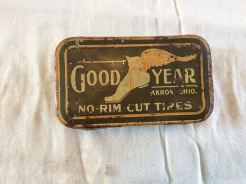 Antique Goodyear tire repair kit tin