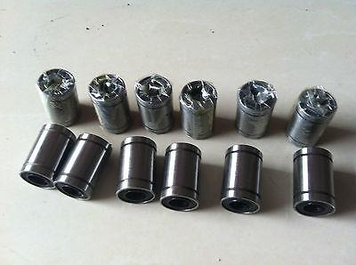 12PCS LM8UU 8x15x24mm Linear Ball Bearing For 3D Printer Reprap Prusa DIY CNC