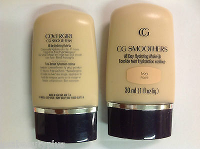 2 X CoverGirl CG Smoothers All Day Hydrating Makeup Foundation IVORY.