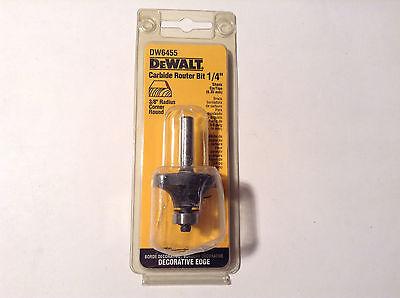 Dewalt Dw6455 Carbide 38 Radius Corner Round Router Bit 14 Shank