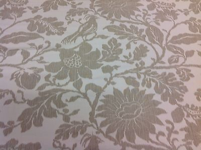Lee Jofa Bird Floral Upholstery Fabric- Kali Damask Raffia 0.65 yds (2012136-16)