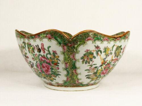 Large Antique Chinese Rose Porcelain Export  Bowl