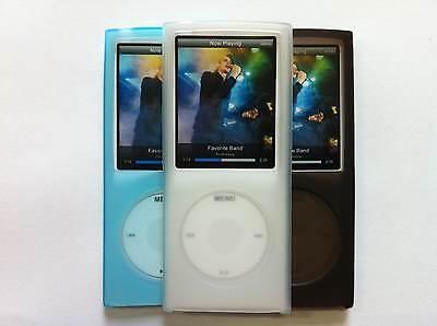 3 x Silicone Shell Protective cover cases for iPod Nano 4G Black Clear Sky Blue Black Ipod Nano Protective Cover