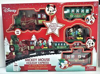 Disney Mickey Mouse Holiday Express 36 Piece Collectors Edition Train Set New
