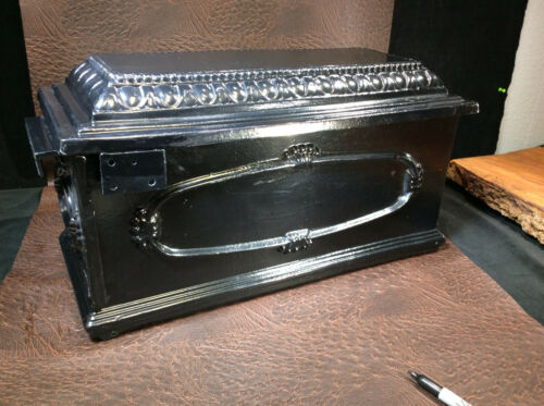 Cast Aluminum Replacement Mailbox-Black with design
