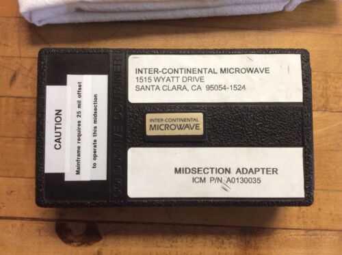 ICM A0130035  Midsection Adapter Inter-Continental Microwave Test Fixture Kit
