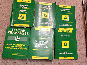 1998-JEEP-CHEROKEE-Service-Shop-Repair-Manual-Set-OEM