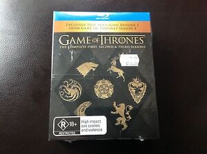 NEW Game of Thrones - Boxed Set - Seasons 1, 2 & 3 - Blue Ray DVD Malvern East Stonnington Area Preview