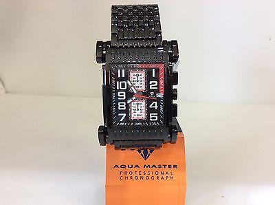 Men Aqua Master Jojo Jojijoe Rodeo Black Pvd Metal Band 41Mm Diamond Watch W 330